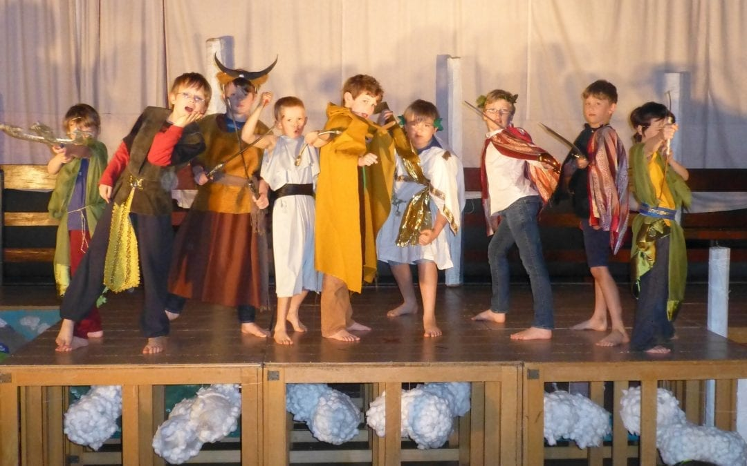 Greek Myth 'Icarus' childrens theatre workshop Stroud