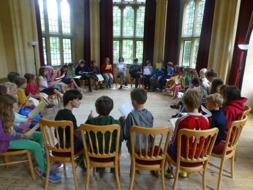 Shakespeare workshop at Woodchester Mansion