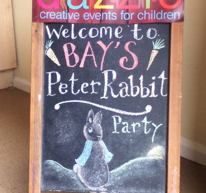 Peter Rabbit themed birthday party