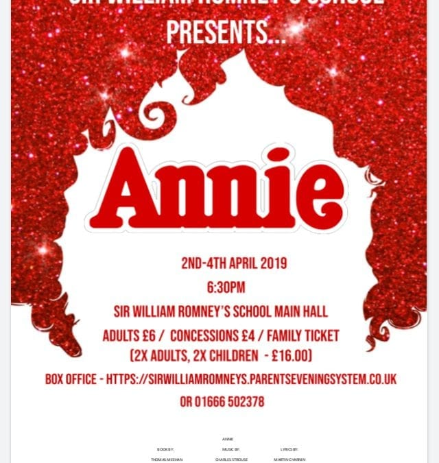 'Annie' Musical at Sir William Romney's in Tetbury