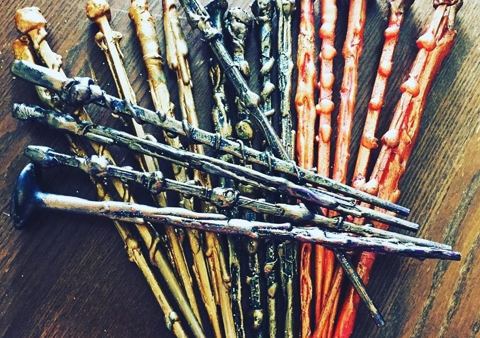 Hand made Harry Potter party gift wands available to order!