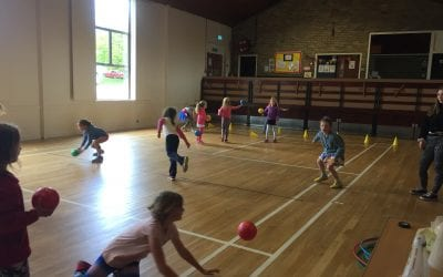 'Handball, Gym & Capture the Flag'-games at kids Stroud half term holiday club!