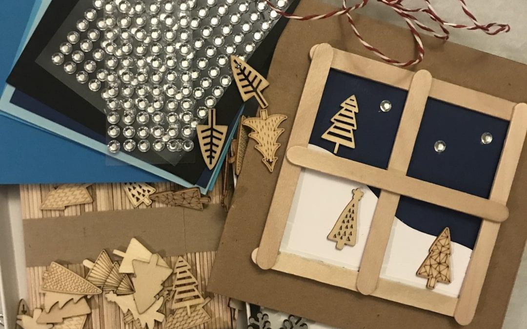 Childrens Christmas Card Craft Packs