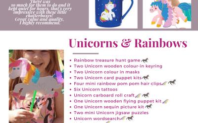 Unicorns & Rainbows children's Activity Pack